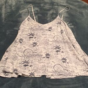 Patterned spaghetti strap top